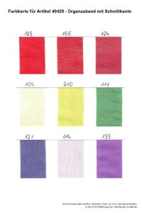 Farben 40429 Organzaband mit Schnittkante 3 -