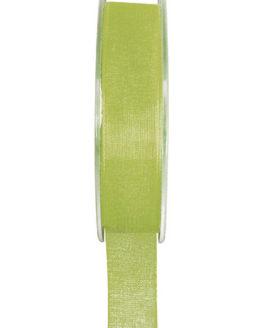 Organzaband BUDGET grün, 7 mm x 20 m Rolle - uni, organzabander, budget