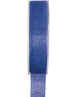 Organzaband BUDGET königsblau, 7 mm x 20 m Rolle - uni, organzabander, budget