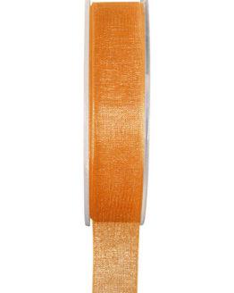 Organzaband BUDGET orange, 7 mm x 20 m Rolle - uni, organzabander, budget