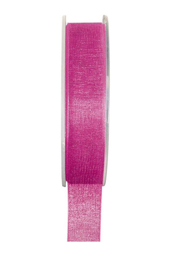 Organzaband BUDGET pink, 7 mm x 20 m Rolle - uni, organzabander, budget