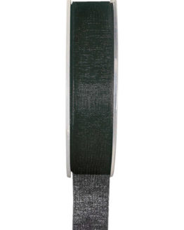 Organzaband BUDGET schwarz, 7 mm x 20 m Rolle - uni, organzabander, budget