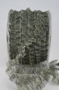 Organzaband dehnbar, 20mm grau (3060378-20-805) - Restposten
