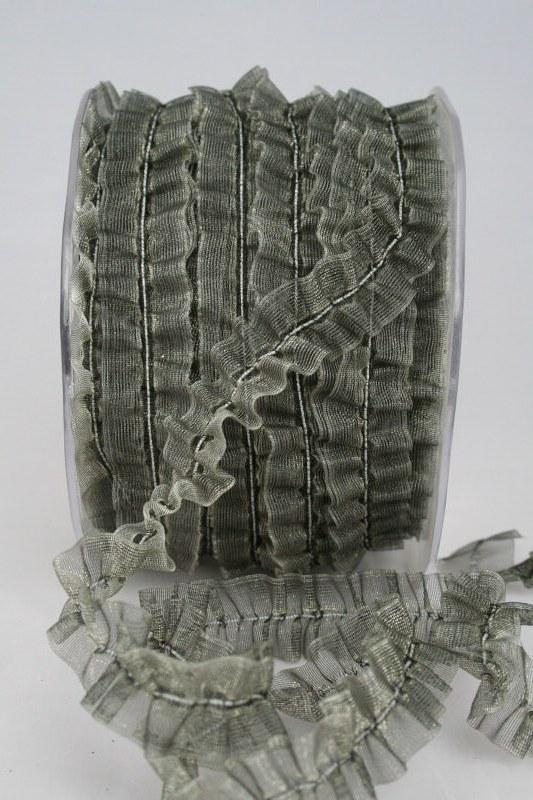 Dehnbares Organzaband, grau, 20 mm - sonderangebot, organzabander, 50-rabatt