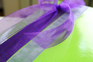 Organzaband in Trendfarbe lila