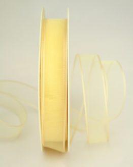 Organzaband mit Webkante, champagner, 15 mm - uni, sonderangebot, organzabander