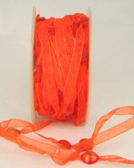 Organzaband mit Perlen, orange, 8 mm - sonderangebot, organzabander, 20-rabatt