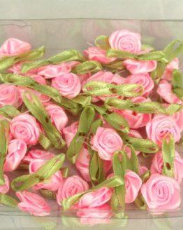 Streurosen aus Satin, rosa, ca. 20 mm - sonderangebot
